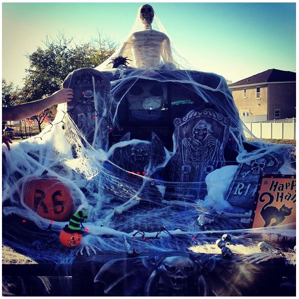 incredible Decorate Truck Bed Halloween Part - 3: Graveyard