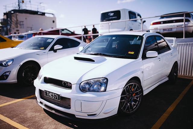 White Subaru WRX STI