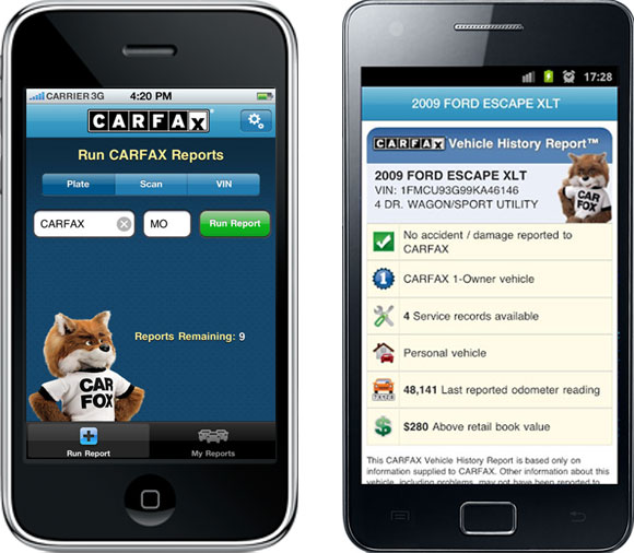 The CARFAX Reports Mobile App | CARFAX