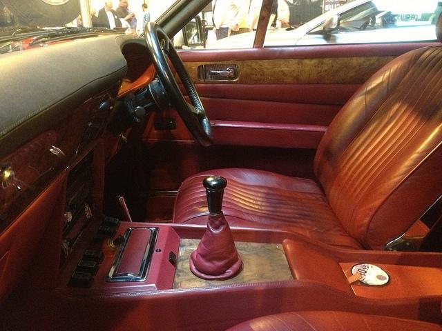 Interior of Aston Martin Vantage