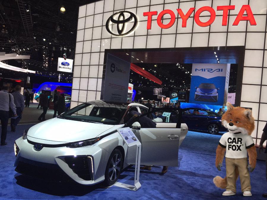 Toyota Mirai hydrogen car.