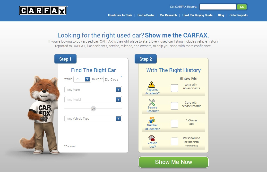 carfax makes car shopping a breeze carfax. Black Bedroom Furniture Sets. Home Design Ideas