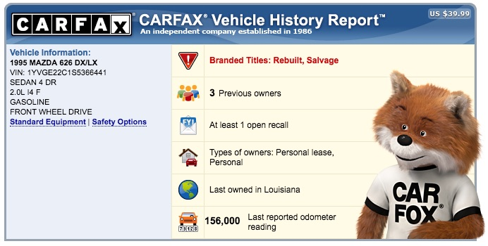 how to get a free carfax report without paying